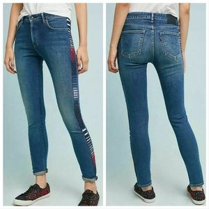 NEW Levi's X Anthropologie Embroidered 721 Jeans
